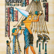 Egyptian history concept with papyrus — Stock Photo #10222160
