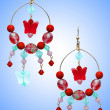Jewellery concept with nice earrings — 图库照片