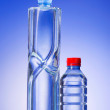 Water bottles as healthy drink concept — Stock Photo
