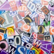 Cut letters from newspapers and magazines — Stock Photo #10224607
