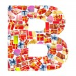 B Letter - Alphabet made of giftboxes — Stock Photo