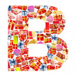 B Letter - Alphabet made of giftboxes — Stock Photo #10225035