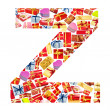 Z Letter - Alphabet made of giftboxes — Stock Photo