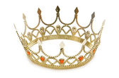 Gold crown isolated on the white — Stock Photo