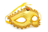 Golden mask isolated on the white — Stock Photo