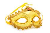 Goldene maske isoliert auf der weißen — Stockfoto