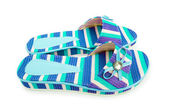 Summer colourful shoes on white — Stock Photo