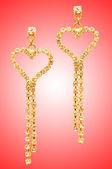 красота понятие моды с серьгами — Стоковое фото