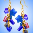 Jewellery concept with nice earrings - Stock fotografie