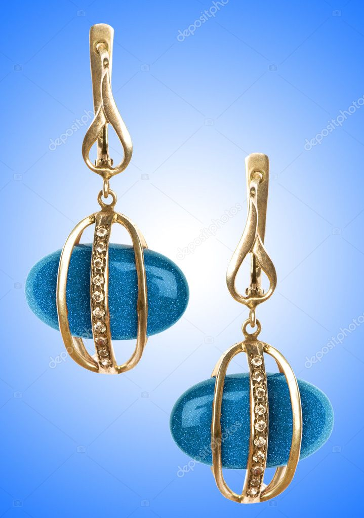 Jewellery concept with nice earrings — Stock Photo #10320794
