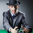 Man playing in the casino - Foto de Stock