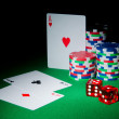 Casino concept with chips and cards - Foto de Stock