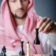 Chess player playing his game - 