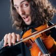 Violin player playing the intstrument — Stock Photo #10452692