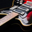 Close up of music guitar — Stockfoto