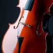 Music concept- close up of cello — Stock Photo