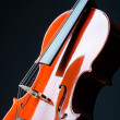 Music concept- close up of cello — Stock Photo #10453548