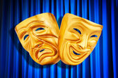 Concept de performance de théâtre avec des masques — Photo