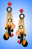 Concepto de joyería con aretes lindo — Foto de Stock
