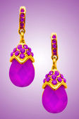 Jewellery concept with nice earrings — Stock Photo