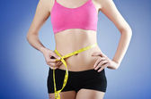 Young lady in dieting concept — Stock Photo