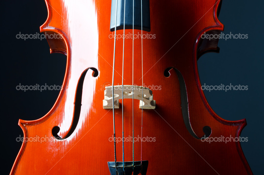 Music concept- close up of cello — Stock Photo #10453552