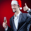 Royalty-Free Stock Photo: Businessman celebrating christmas holidays