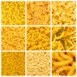 Set of various pasta backgrounds - Stock Photo