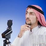 Arab chemist working in lab — Stock Photo #10573413