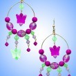 Jewellery concept with nice earrings - Stock Photo