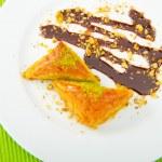Traditional turkish sweet dessert — Stock Photo
