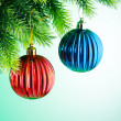 Baubles on christmas tree in celebration concept — Stock Photo #7968574