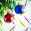 Baubles on christmas tree in celebration concept — Stock Photo #7968586