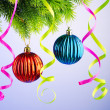Baubles on christmas tree in celebration concept — Stock Photo #7968592