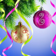 Baubles on christmas tree in celebration concept — Stock Photo #7968593