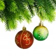 Christmas concept with baubles on white — 图库照片 #7968670