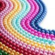 Abstract with colourful pearl necklaces — Stock Photo #7968671