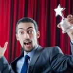 Businessman awarded with star award — Stock Photo #7968698