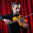 Young violin player playing - Foto Stock