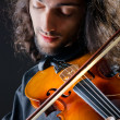 Violin player playing the intstrument — Stock Photo #7968777