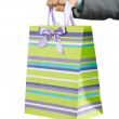 Christmas concept with shopping bag — Stock Photo