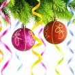 Holiday christmas decoration on white — Stock Photo #7969187