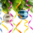 Holiday christmas decoration on white — Foto Stock