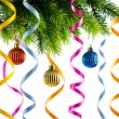 Christmas decoration on the white — Stock fotografie #7969226