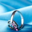 Fashion concept with ring on background — Stock Photo #7969253