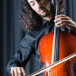 Man playing the cello — Stockfoto