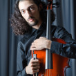 Man playing the cello - Foto Stock