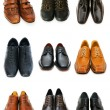 Various shoes isolated on the white — Stock fotografie