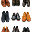 Stock Photo: Various shoes isolated on white