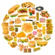 Circle with lots of food items — Stock Photo #7969335
